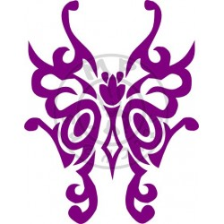 Sticker Papillon Tribal