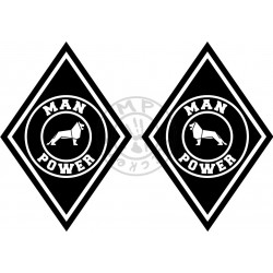 Stickers losange logo MAN POWER (la paire)