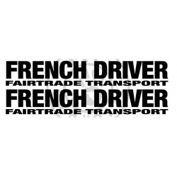 Sticker de vitres FRENCH DRIVER 550x85 mm (la paire)
