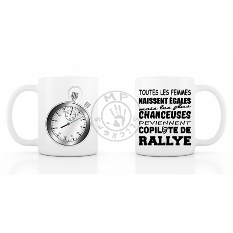 COPILOTE CHANCEUSE Mug 330ml (11oz) blanc céramique