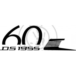 Sticker DS 60 ans version retournée