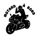 Sticker Motard à bord moto