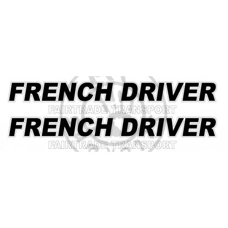 Sticker de vitres FRENCH DRIVER 2 couleurs 550x85 mm (la paire)