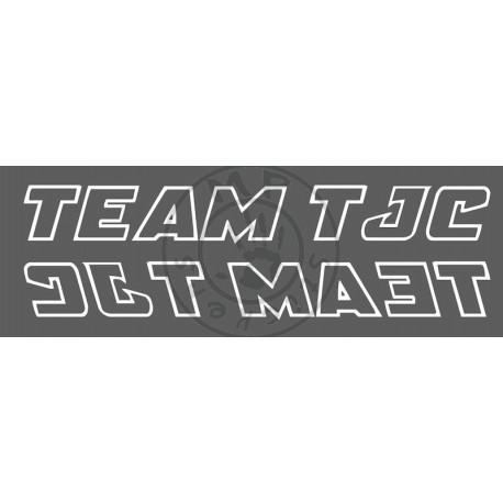 Sticker de vitres TEAM TJC 1 couleur 480x60 mm liseret (la paire)