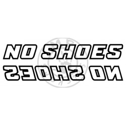 Stickers NO SHOES liseret (la paire)