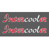 Sticker de vitres INTERCOOLER 2 couleurs 750x140 mm (la paire)