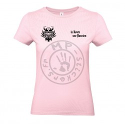 T-Shirt femme la Route une Passion rose orchidé