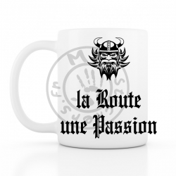 Mug la Route une Passion 330ml blanc céramique top qualité 2 faces