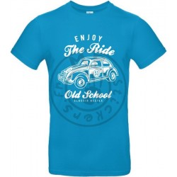 T-Shirt homme Enjoy the Ride Old School Coccinelle Choupette 53