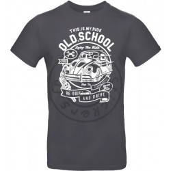 T-Shirt homme Old School Ride Coccinelle Vintage version 2