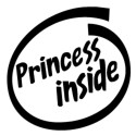 Sticker Princess Inside JDM