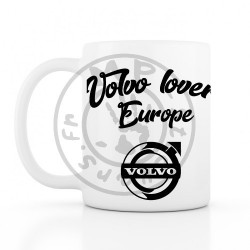 Mug Volvo lovers Europe 330ml blanc céramique top qualité 2 faces