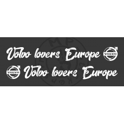 Stickers de vitre Volvo lovers Europe logo Volvo