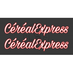 Sticker de vitres CEREAL EXPRESS 2 couleurs 600x125 mm (la paire)