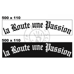 Cache plaque La Route une Passion en plexy version 1