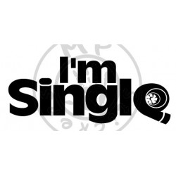 Sticker I'M SINGLE JDM