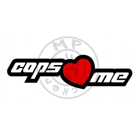 Sticker COPS LOVE ME JDM