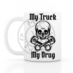 Mug My Truck My Drug 330ml BLANC céramique top qualité