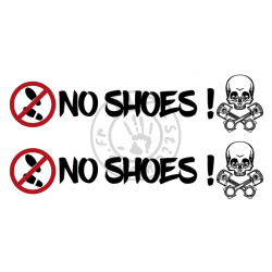 Stickers NO SHOES My Truck My Drug (la paire)