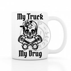 Mug My Truck My Drug 330ml BLANC Version femme céramique top qualité