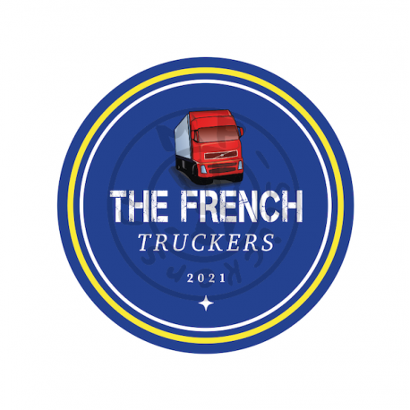 Sticker logo THE FRENCH Truckers 150x150mm (unité)