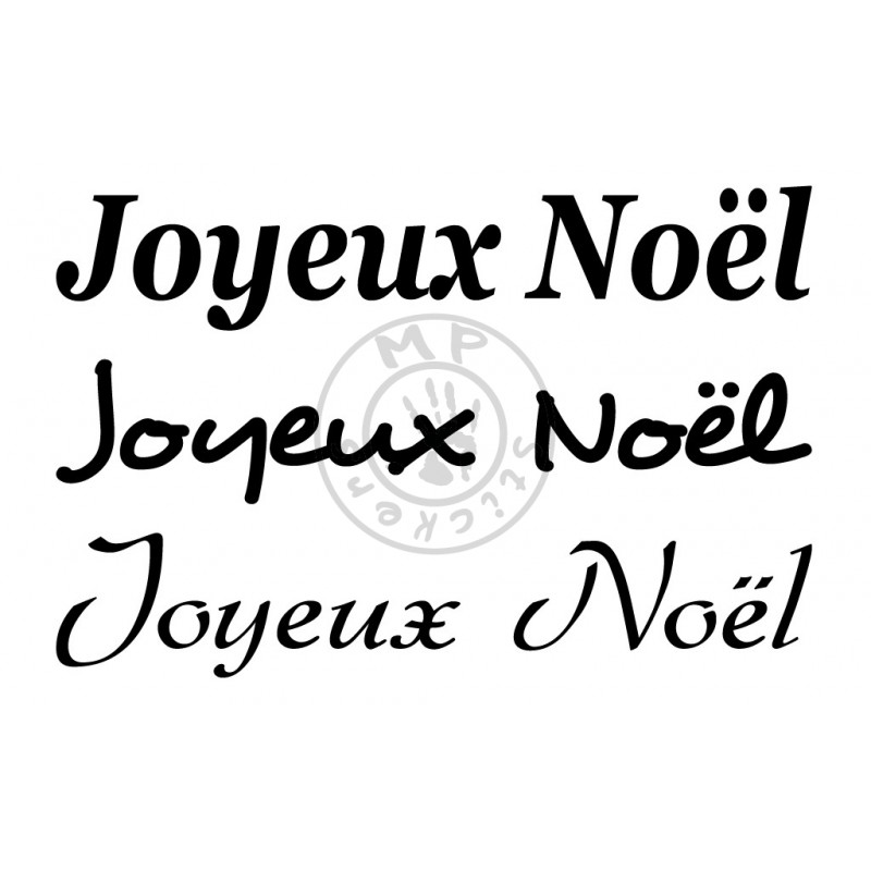 Inscription joyeux no l mp stickers for Ecriture miroir