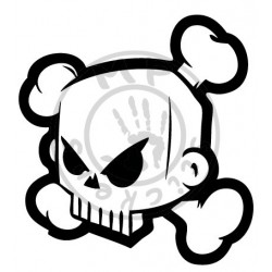 Sticker Block Skull