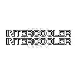 Sticker de vitres INTERCOOLER liseret 650x65 mm (la paire)