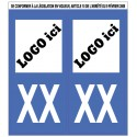 Stickers de plaque d'immatriculation auto personnalisable (la paire)