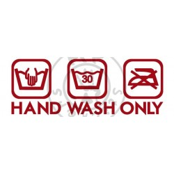 3 logos Hand Wash Only