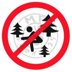 "Sticker ""Interdit de faire caca en forêt"""