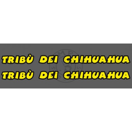 Stickers de casque TRIBU DEI CHIHUAHUA (la paire, impression quadri 1 couleur)