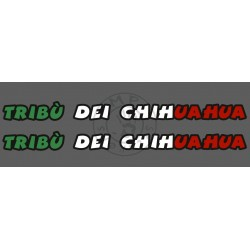 Stickers de casque TRIBU DEI CHIHUAHUA (la paire, impression quadri 3 couleurs)
