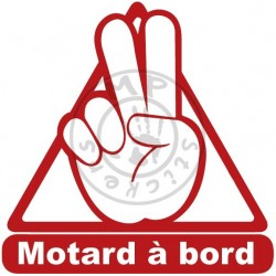 Sticker Motard à bord 1 couleur sans fond
