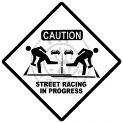 Sticker Street Racing in Progress 1 couleur sans fond