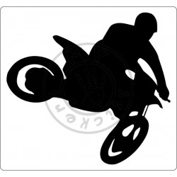 Sticker Motocross avec fond blanc